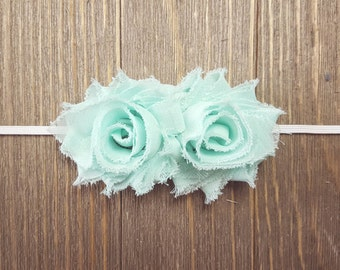 Newborn Headband, Baby Headband, Mint Headband, Newborn Headband Mint, Toddler Headband Mint, Flower Headband, Mint Baby Headband
