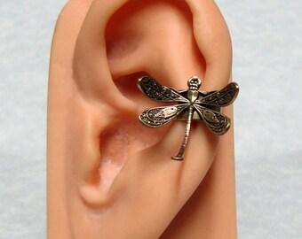 Steampunk Dragonfly Ear Cuff