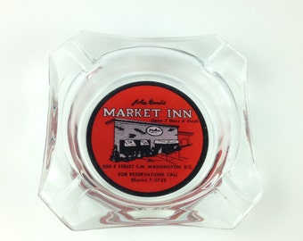 1950s John Mandis Market Inn Ashtray, Vintage Ash Tray, Collectible Ashtray, Rare, Washington DC, Political Collectible
