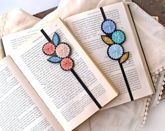 Bookmark Set - Reader Gift - Bookclub Gift -  Teacher Appreciation Gift - Felt Bookmark - Hand Embroidered Bookmark - Teacher Gift
