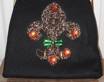 Jolles Junior Handbag - Purse - Fleur De Lis - Vintage - Mardi Gras