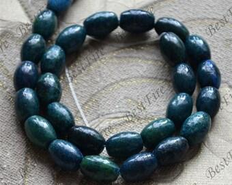 Single rice Azurite Chrysocolla Jasper,Gemstone Bead loose beads,blue green jasper Full Strand 15 inch