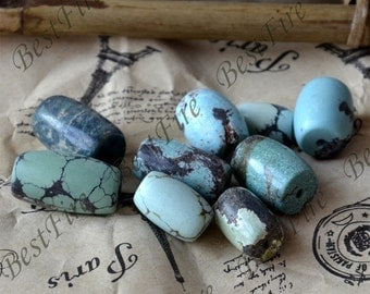 10 beads Natural old Turquoise nugget loose beads,turquoise nugget gemstone beads,turquoise beads