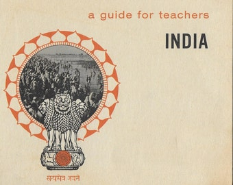 Vintage Mid Century Teacher's Guide - India