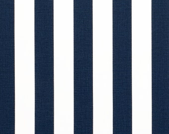 "Custom Tablecloth NAVY and White Canopy Stripe 54"" x 72"""
