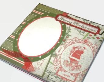 Christmas scrapbook album vintage Santa accordian mini book photo book