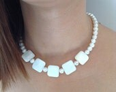 Pearl necklace, water pearl, Bridesmaid Necklace, Bridesmaid Jewelry, Wedding Jewelry,bridesmaid gift