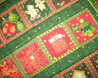 Advent Calendar Christmas quilted