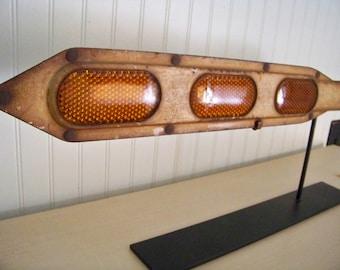 Vintage Reflector Arm - Amber Reflectors - Industrial