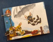 Recycled  Notebook - Large Refillable Notepad - Upcycled Vintage Children's Book - Parachute Bunny