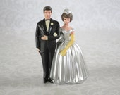 Vintage Wedding Cake Topper /  Wilton Wedding Cake Decor / Silver Wedding Supply /  Wedding Anniversary Decor SwirlingOrange11