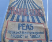 Country Store Burlap Produce Garden Kitchen Feed Sack Canada Prairie Song Peas