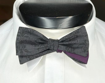 The Walt- Our Disney Themed Bowtie in Haunted Mansion Colors