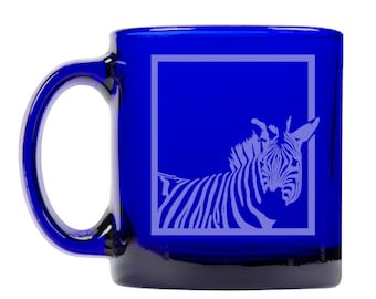 Colbalt Blue Coffee Mug 13oz -9302 Zebra