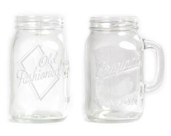Mason Jar  Mug - 30 oz. Large- 2821 Old Fashioned