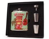 Custom Flask // 6 oz Flask Gift Set