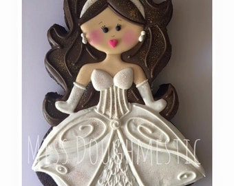 Miss Doughmestic Girl #10 BRIDE or Mermaid Cookie Cutter or Fondant Cutter and Clay Cutter