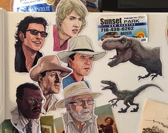 JURASSIC PARK Fridge Magnet SET