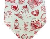Be Mine - Valentine's Day - Bibdana, Bandana Bib - Reversible, Baby/Toddler Bib, Cozy Flannel, Cotton , perfect pair, mini hearts, true love