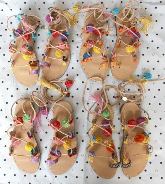 Boho leather gladiators! Greek leather sandals