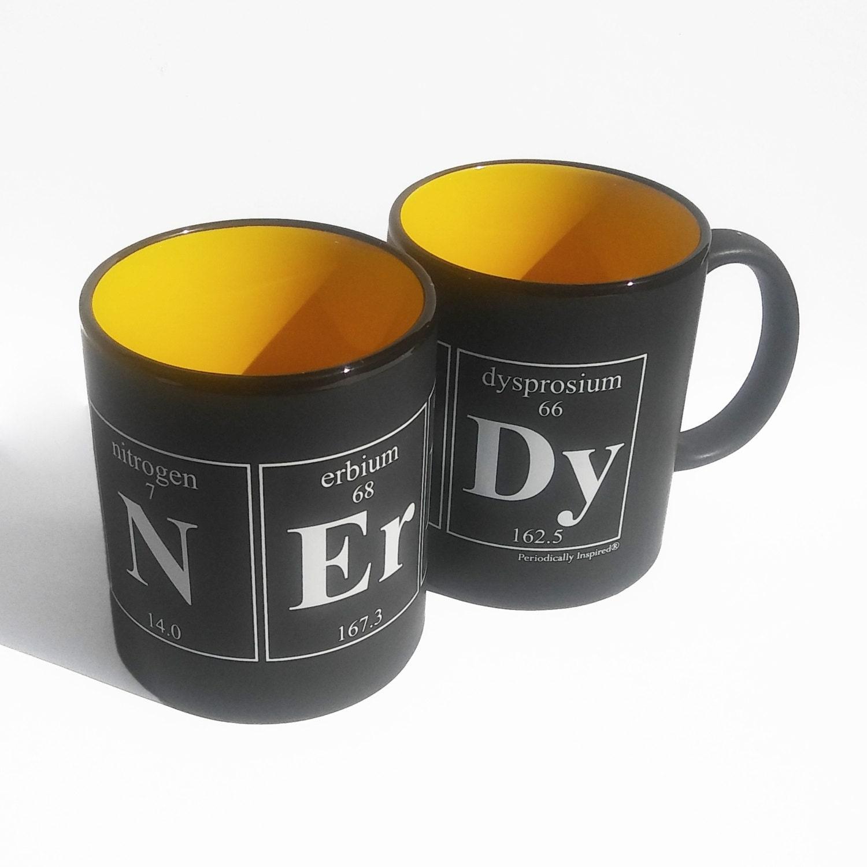 Nerdy Periodic Table Coffee Cup Chemistry Themed Coffee Mug