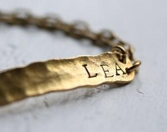 Personalised ID Bracelet... Name Initial Bangle Personalized