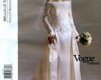 Vogue Bridal Original 1324 Sewing Pattern by Bellville Sassoon for Misses' Bridal Dress - Uncut - Size 18, 20, 22