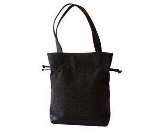 Celine Paris Signature Brown Drawstring Tote Shoulder Bag Made in Italy
