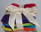Tie dye gift set of 4 washcloths in rainbow