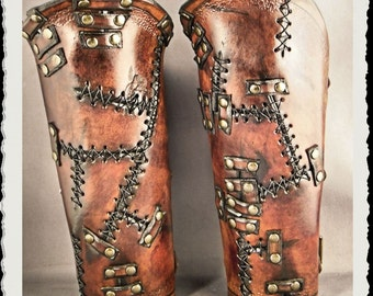 Leather bracers - Wild -