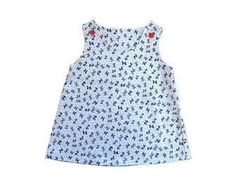 Sale - A line Jumper Dress, Bow Dress for Baby Girl, Baby Girl Clothing