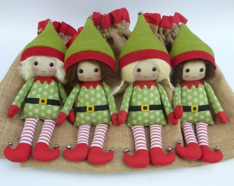 custom Christmas elf, elf with sack