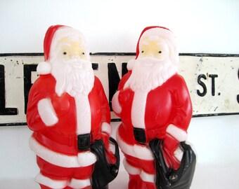 Vintage Blow Mold Santa Empire Pathway Light Topper Plastic Yard Decor 1960's Christmas Decoration 2 Available