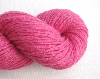 DK or Light Worsted Weight Cashmere Recycled Yarn, Rose Pink, 270 Yards, Lot 100216