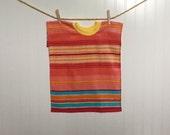 Towel Bib Girl Stripe XL toddler bib