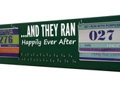 Running Medal Holder and Race Bib Display RUNNING, And they ran happily ever after.  Now Show It Off, Gifts for runners, Athletic wedding