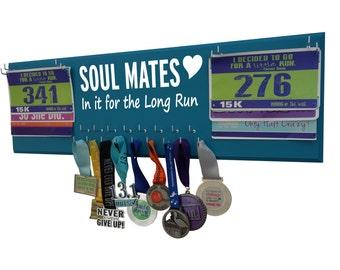 Wedding, running, wedding gift, race bib holder, Sweating for wedding, running couple, Race medal holder,Running medal holder,Running medals