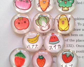 12 Handmade Fruit Photo Glass Cabochon 20mm CPC236-M20 (PC767)