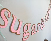 Sugar and Spice banner, Baby Shower banner, Baby Shower decoration, baby shower decor, girl baby shower decoration, sip and see banner