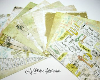 12 6 x 6 Prima Life Time Paper Collection, Paper Assortment for Scrapbooking Mini Albums Cards Tags and Papercrafts