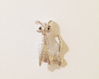 Modernist Cat Brooch, Meesco Jewelry, Holiday Pins