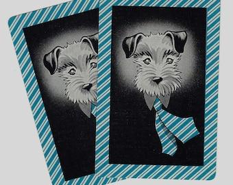 TIE OPTIONAL (2) Vintage Single Swap Playing Cards Paper Ephemera Scrapbook