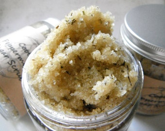 Cool Peppermint Sugar Scrub - Exfoliation Treatment for the Skin - 8oz size - Dry Skin Care - Soothing Treatment for Winter Skin