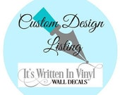 15% OFF Custom listing for Vanessa -Vinyl Lettering wall decals words family bedroom art hallway love stickers decal graphics Home decor it
