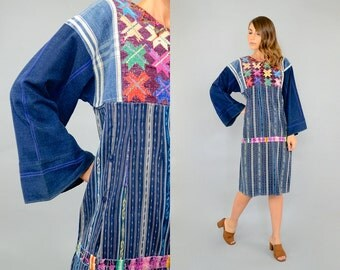 70's Guatemalan DENIM Dress