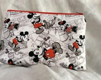 Mickey & Minnie Cosmetic Makeup Bag