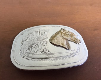 Vintage Fancy Horse Head Belt Buckle