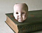 Porcelain Bisque Small Doll Head for Altered Art, Doll Making and Doll Repair