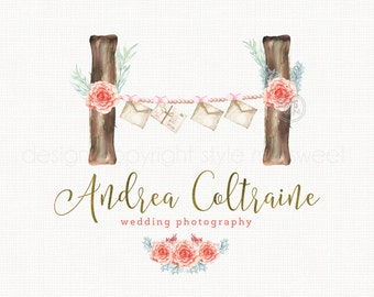 photography logo design wedding logo design event planner logo planner shop logo sticker shop logo stationary shop logo premade logo