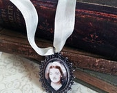 Wedding Photo Charm, Bouquet Charm, Bridal Memorial Pendant, Tie on Bouquet, Picture Frame Pendant, Ribbon Included